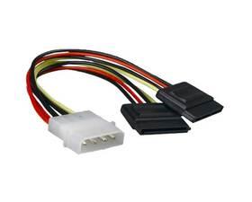 Nano Cable de Alimentacion SATA 2 Conectores