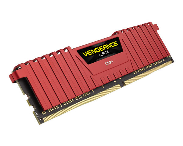Memoria RAM Corsair DDR4 8GB 2400MHz Vengeance LPX Red