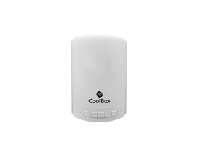 Coolbox Lampara LED Bluetooth Blanco
