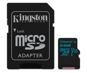 Kingston Canvas Go! 64GB Adaptador