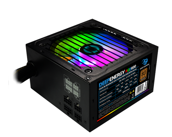 CoolBox DeepEnergy RGB 600W 80 Plus Bronze