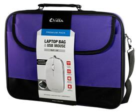 E-Vitta Premium Pack Maletín para Portátil 15.4-16´´ + Ratón Óptico Púrpura