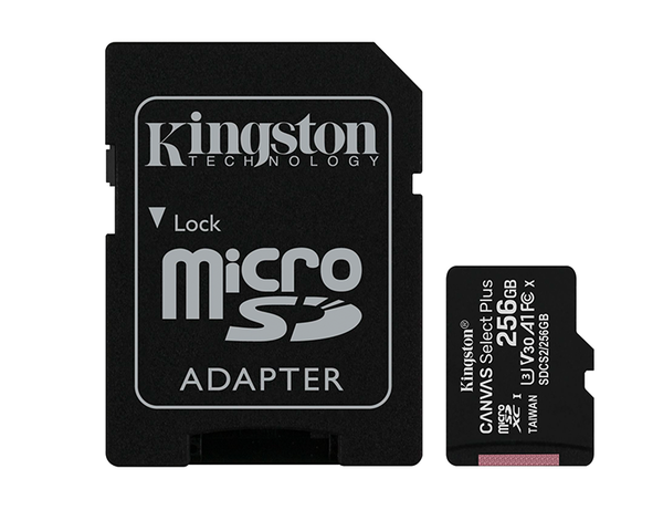 Kingston MicroSD 256GB Canvas Select Plus con Adaptador