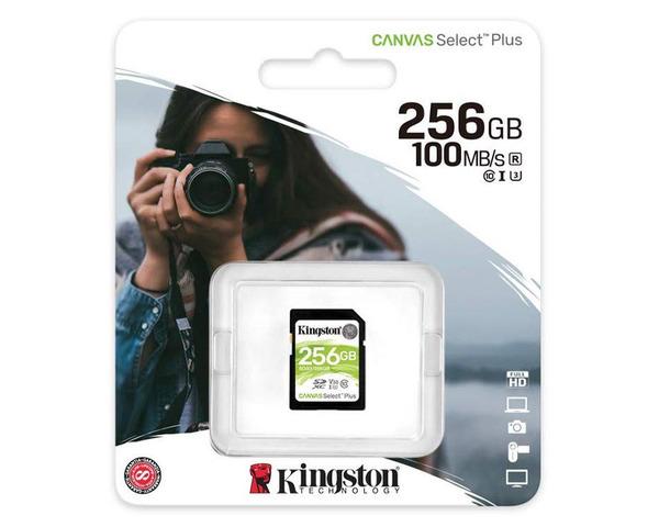 Kingston Canvas Select SD 256GB Tarjeta de Memoria Plus Clase10
