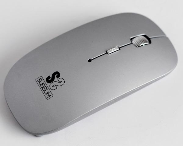 Subblim Flat Ratón Inalámbrico Bluetooth 1600DPI Plata