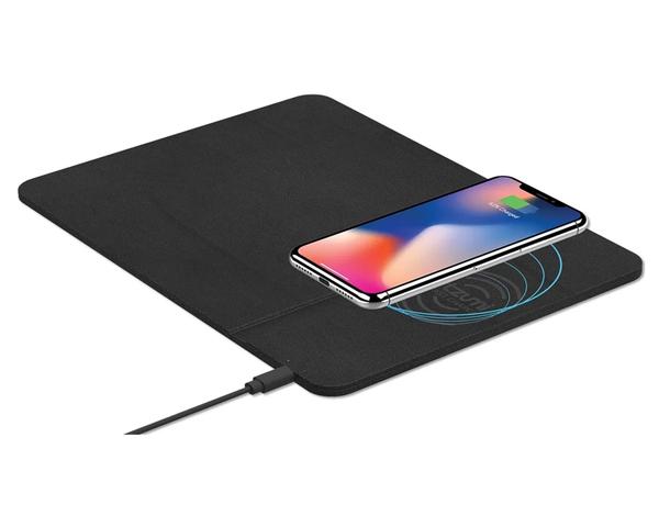 Subblim Wireless Charger PU alfombrilla con Carga Inalámbrica 10W Negro