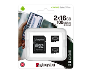 Kingston MicroSD 16GB Canvas Select Plus Pack de 2 unidades