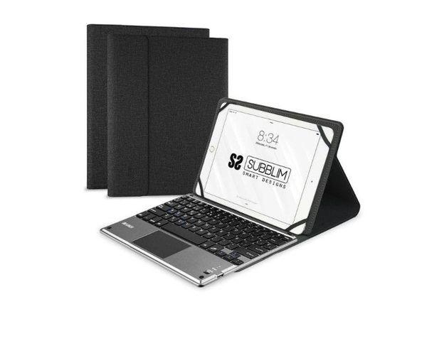 """Subblim Funda con Teclado Keytab Pro Bluetooth + Touchpad para Tablet 10.1"""" Negro"""