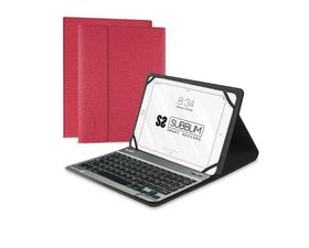 """Subblim Funda con teclado Keytab Pro Bluetooth para Tablet 10.1"""" Rojo"""