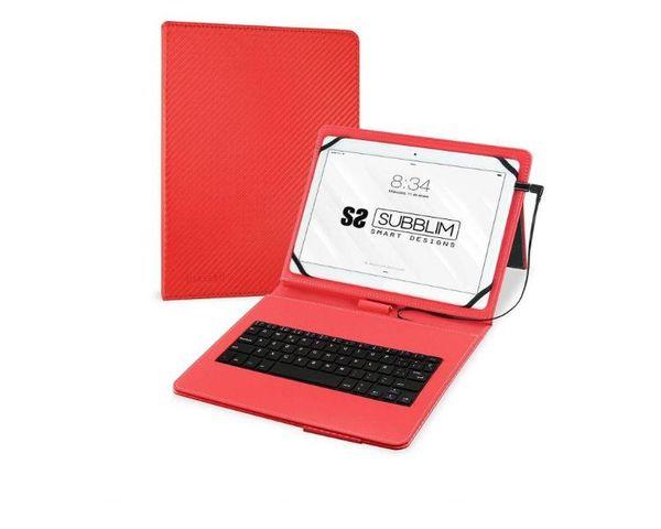 "Subblim Funda con Teclado Keytab Pro MicroUSB para Tablet 10.1"" Rojo"