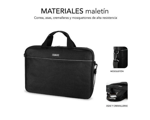 "Subblim Maletín con Ratón USB Select Pack para Portátil hasta 15.6"" Negro"
