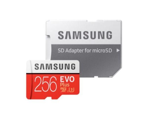 Samsung MicroSD EVO Plus 256GB Clase 10 + Adaptador