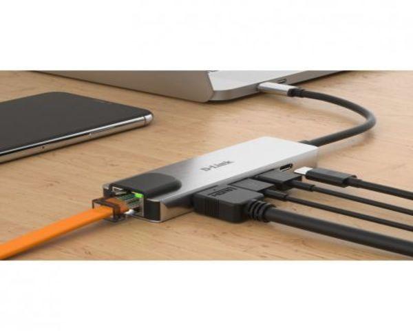 D-Link DUB-M520 Hub USB-C 5 EN 1 HDMI 4K/RJ45/USB 3.0/USB-C