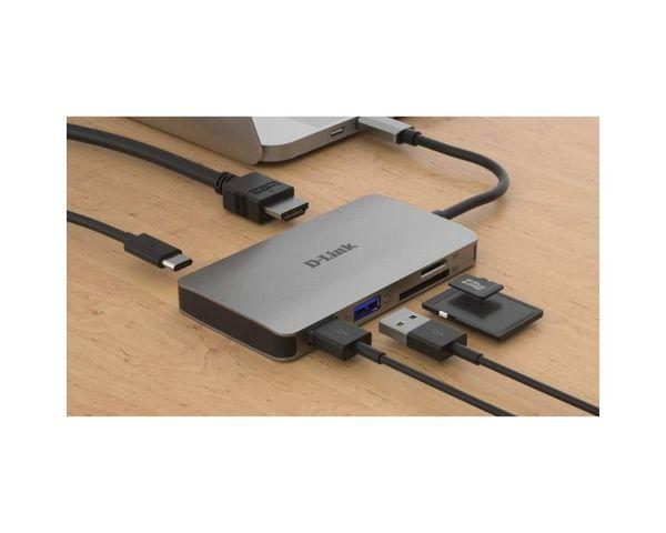 D-Link DUB-M610 Hub Adaptador USB-C 6 EN 1 Lector Tarjetas/HDMI 4K/USB-C/USB 3.0
