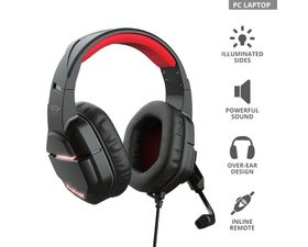 Trust GXT 448 Nixxo Auriculares Gaming LED Negros