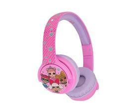 LOL Surprise Junior Gliterati Auriculares Infantiles Inalámbricos con Micrófono